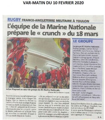 10/02/2020 - Article Var Matin Crunch 2020